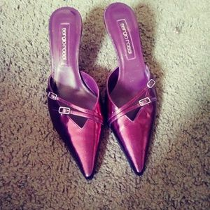 Sergio Rossi Purple Pointy Toe Heels